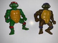 1988 Donatello and Raphael Teenage Mutant Ninja Turtles TMNT Vintage lot
