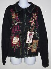 Victoria Jones Christmas sweater sz S 4 6 black