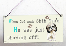 Shih tzu, metal hanging sign, decorative sign, metal plaque