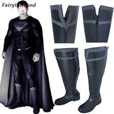 Justice League Superman Clark Kent Cosplay Boots Black Superman Shoes