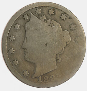 1885 Circulated Liberty Nickel ~ About Good to Good ~ Original Nice Coin ~ Key!!