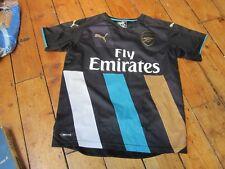 Arsenal 2015-16 Season 3rd Away Kit Black Alexis Sanchez Men's XS Black Puma