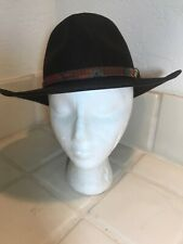 Dorfman Pacific Men's Crushable Wool Outback Hat Brown Aussie Native Small USA