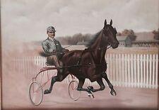 Original Molly Hanks Harness Horse Lithograph - Budd Doble Driving -1892