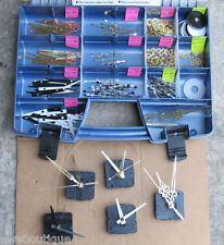 Huge Lot NEW CLOCK HANDS, HARDWARE & STORAGE mixed Parts assorted sizes styles