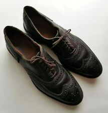 Allen Edmonds McTavish Mens Black Wingtip Oxford Dress Shoes Size 11E US