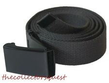 "NEW 1.5"" inch WIDE FLIP TOP 50"" CANVAS MILITARY WEB GOLF GRAY BELT BLACK BUCKLE"