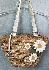 Brighton Straw Floral Handbag Tote