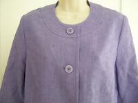 Alfred Dunner Womens Vintage Blazer Jacket 10P 3/4 Sleeve Textured Purple