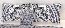 Home Handmade Set of 2 Indian 18X28 Pillow Cushion Cover Cotton Mandala White