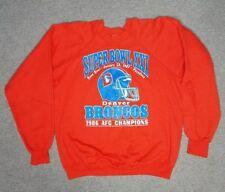Denver Broncos 1986 AFC Champions Large Crewneck Vintage Superbowl Trench