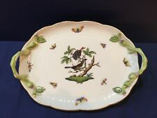 """Herend Rothschild 11"""" Double-Handled Tray 412"""