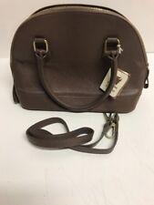 VERA PELLE Brown Pebble Grain Leather Hobo Shoulder bag Nwts Dr Bag
