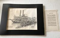 """Brent McCarthy 1981 """"The Natchez' New Orleans Steamboat Print"""