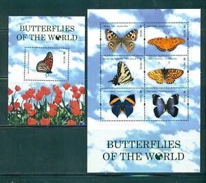 Nevis - Sc# 1660-1. 2011 Butterflies of the World. Set of 2 Sheets. MNH $13.50.