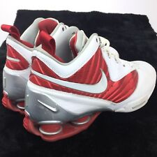 Nike Shox BB Pro Tb Men's Athletic Sneakers 8.5 White & Red 407628-105 Shoes
