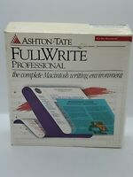 Ashton Tate FULL WRITE Software For Vintage Apple Macintosh BRAND NEW Rare Aston