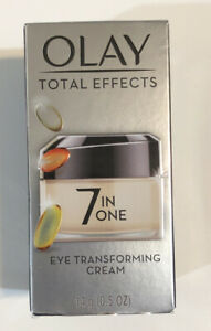 Olay Total Effects 7 IN One EYE TRANSFORMING Cream Anti Aging, 0.5 g BRAND NEW
