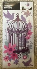 Floral Birdcage (Large) Wall Sticker By Home Decor (58cm X 30cm)