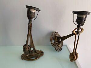 PAIRE D'APPLIQUES LAMPES BALANCIER