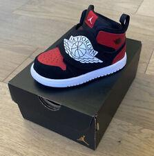 Sky Jordan 1 8 C infant TD Black/White-Gym Red