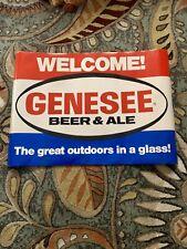 "Vintage Genesee Beer Genny Advertising Poster ""The Great Outdoors� 36� X 25�"