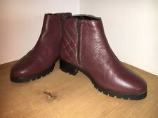 Faith Leather Ankle Boots Size 3