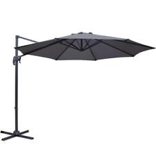 Instahut 3M Outdoor Roma Umbrella - Charcoal