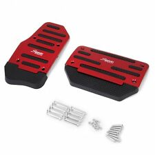 Red Set Brake Clutch Accelerator Car Pedal Cover Non Slip Automatic Transmission