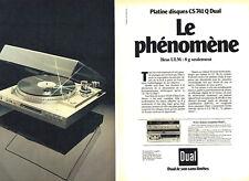 Publicité Advertising 107  1984   Dual (2p) platine disques CS 741 Q bras ULM