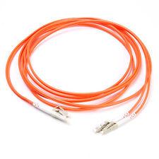3m Duplex Multi Mode 62.5/125 Fiber Jumper Cable Patch Cord LC to LC