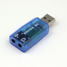 Blue External Virtual USB 3D 5.1 Channels Sound Card Audio Adaptor Converter
