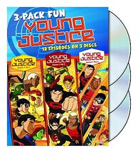 YOUNG JUSTICE - SEASON 1 - 3 Disc Collection -  DVD - UK Compatible - sealed