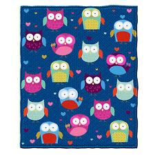 Dawhud Direct Owls Fleece Throw Blanket