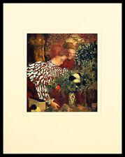 Edouard Vuillard The Striped Blouse Poster Bild Kunstdruck im Alu Rahmen 50x40cm