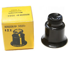 Bergeon 1458A Jewelers Watchmakers Loupe Eye Magnifier 12X  15X