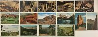 Colorado Caves Mountains Linen / Litho Uncirculated Postcards Vintage Lot of 15