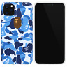 A Bathing Ape Bape Blue Camo Cover Case For iPhone 11 Pro Max XS XR 8 7 Plus SE