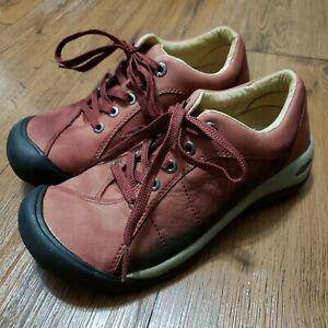 Keen Womens Size 6.5 5322-MBRN Shoe Presidio Maroon Leather Walk Distressed Nice