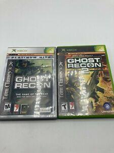 Microsoft Xbox Tom Clancy's Ghost Recon 1 + 2 LOT