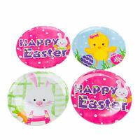Happy Easter Bunny Chick Melamine Side Salad Dessert Plates Set of 4