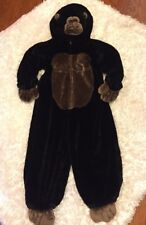 "HALLOWEEN COSTUME CHOSUN BLACK APE GORILLA PLUSH 50"" SIZE XL 7-8"