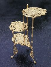 Flower Stand Brass Gold Table Antique 28 5/16in x 18 1/2in Telephone Baroque