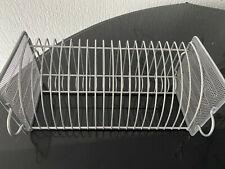 CD Regal-Ständer,SILBER,20 Stück-Halter,rechteckig,zum Hinstellen,32cm x14,5 cm