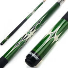 "Green 58"" 2-Piece Canadian Maple Hardwood Billiard Pool Cue Stick (18-21 Oz)"