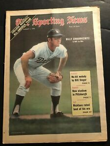 1970 Sporting News LOS ANGELES Dodgers BILLY GRABARKEWITZ Willie Mays #3000 Hits