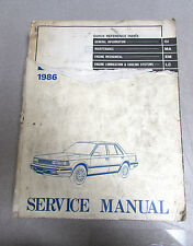 1986 Nissan Maxima Service Repair Manual Model U11 Series