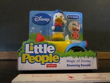 Fisher Price Little People Disney bouncing waving Donald duck car Mickey mouse