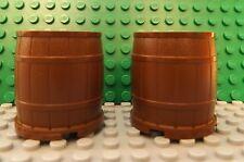 2 LEGO Marrón Contenedor Barril 4 x 4 x 3.5 N º 30139 vaqueros piratas