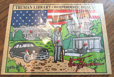 Vintage Wooden Peg Puzzle Harry Truman Independence Mo The Buck Stops Here